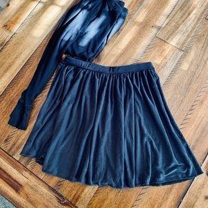 Silence+Noise Gunmetal Flirty Skirt